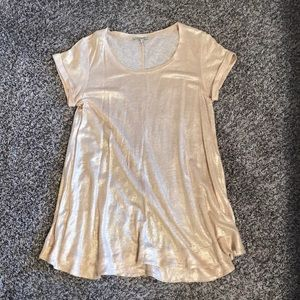 Gold Anthropologie top